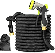 Besiter Flexible and Expandable Garden Hose - Strongest Triple Latex Core with 3/4 Solid Brass Fittings Free 8 Function Sp...