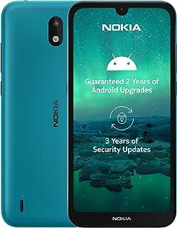 """Nokia 1.3 Smartphone - (14,3cm (5.71"""") 16GB ROM, 1GB RAM, Dual SIM), Cyan"""