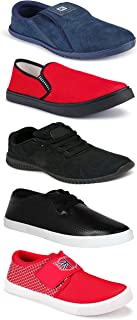 WORLD WEAR FOOTWEAR Sports Running Shoes/Casual/Sneakers/Loafers Shoes for MenMulticolors (Combo-(5)-1219-1221-1140-748-1085)