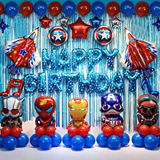 Superhero Birthday Party Decorations Kids Birthday Party Supplies Superhero Balloons Perfect For Your Kids Theme Party