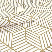 Meboom - Papel pintado con tiras hexagonales doradas y tiras adhesivas de vinilo para estante (45 x 250 cm)