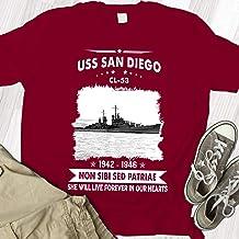 USS San Diego CL 53 Proud Military Veteran Mens T-Shirt