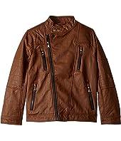 Faux Leather Jacket (Little Kids/Big Kids)