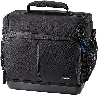 Hama Kameratasche Outdoor für DSLR Kamera und zwei Objektive, wasserabweisender Hartschalenboden, stoßfest, gepolstert, Innenmaße 20 x 11 x 17 cm, Ancona HC 130, schwarz