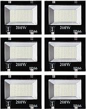 ESS EMM® 200 Watt Ultra Thin Slim Ip66 LED Flood Outdoor Light Cool White Waterproof- 200W,Pack of 6