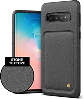 VRS Design Damda High Pro Shield Compatible for Galaxy S10 Case, with Premium Sand Stone Touch and Gold Detail for Galaxy S10 6.1 inch (2019)