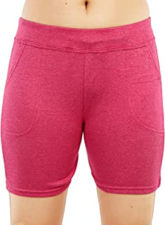 MUKHAKSH (Pack of 1 Girls/Ladies/Women's/Kids Cotton Hot Galander Pink Short for Gym/Work Out/Casual & Party Wear