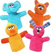 BETTERLINE Fun Colorful Animal Hand Puppets for Kids (4 Puppets) Bunny Rabbit, Elephant, Duck and Cat - Great Gift for Gir...