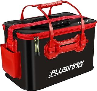 PLUSINNO Fishing Bucket, Foldable Fishing Bait Bucket, Multifunctional Portable Folding Fishing Minnow Bucket Fish Live Ba...