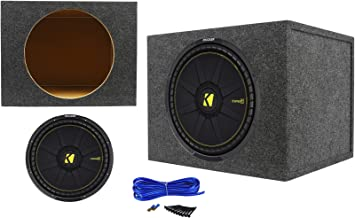 Kicker 44CWCS154 CompC 15 1200 Watt Car Subwoofer+Sealed Sub Enclosure Box