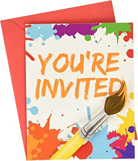Creative Converting 317724 Art Invitations (8 ct) Party Supplies, One Size, Multicolor