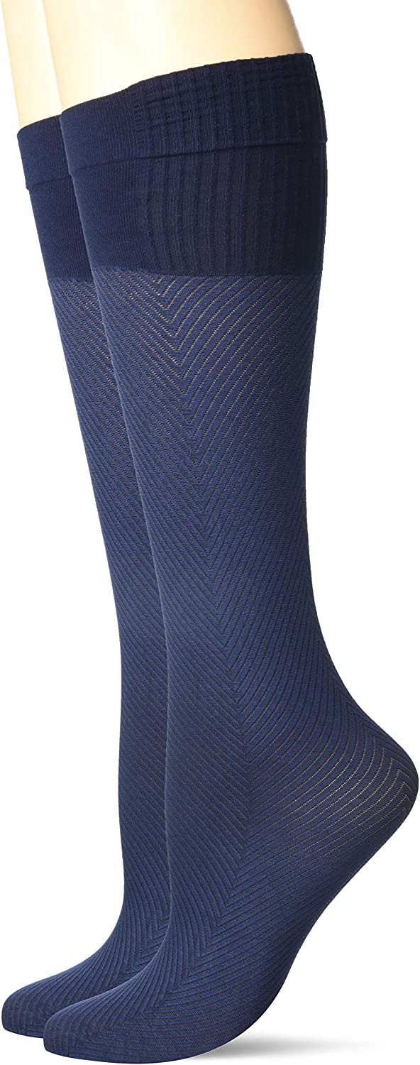 Hanes womens Perfect Socks Geo online shop 2 Pack Pair Max 44% OFF Compression