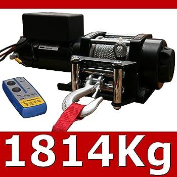 4000 lb 12 V SOULONG Elektrische Seilwinde LKW mit Fernbedienung Wohnmobil kabellos Boot f/ür Auto-Anh/änger