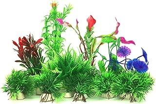 人工水草, PietyPet 水槽オーナメント用 水族館の植物 水槽装飾-16個