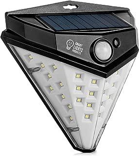 Smart Lights 32 Led Solar Motion Sensor Light Outdoor, Wireless Powered Solar Lights Outdoor, Patio Wall Light Security, 600 Lm Deck Lights, IP 65 PIR Activated Waterproof Step Lights 1 Pack
