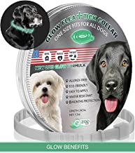 еZOOlife Glow ECO Pest Control Collar: Hypoallergenic Waterproof Protection Long Lasting Flea and Tick Prevention Fully Adjustable one Size fits All!