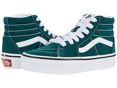 Vans Kids SK8-Hi (Little Kid) (Bistro Green/True White) Kids Shoes