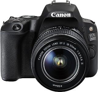 Canon Eos 200D 18-55mm Fotoğraf Makinesi, Full Hd (1080P), Siyah