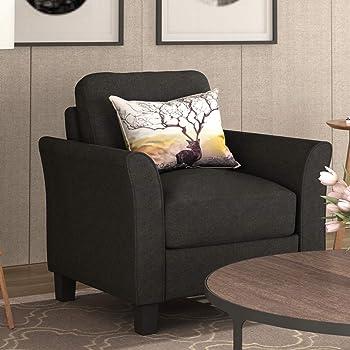 Amazon.com: Harper&Bright Designs Living Room Sets Furniture Armrest Single Seat Sofa (Black): Kitchen & Dining