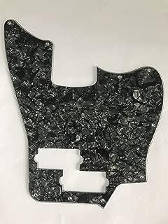 Custom Guitar Pickguard For Squier Jaguar Bass Style (4 Ply Black Pearl)