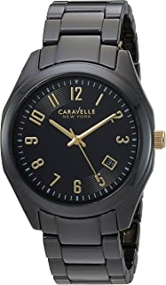 Caravelle New York Women's Quartz Watch with Ceramic Strap, Black (Model: 45M109)