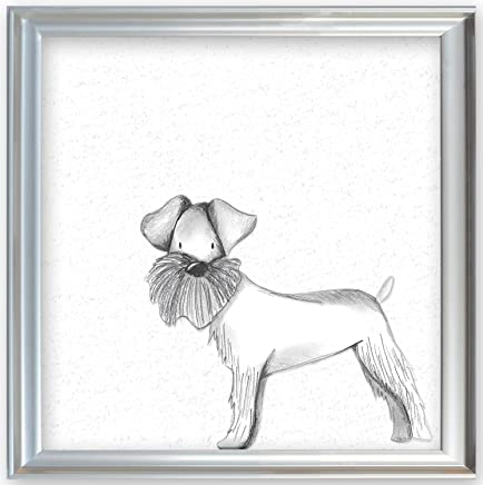 Doodlefish Schnauzer Wall Art-Parent Silver