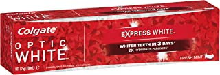 COLGATE Optic White Express White Teeth Whitening Toothpaste Fresh Mint with Hydrogen Peroxide Enamel Safe Tooth paste 125g