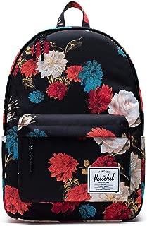 black floral herschel backpack