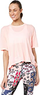 Calvin Klein Women's Performance Half Sleeve T-Shirt with Back Split