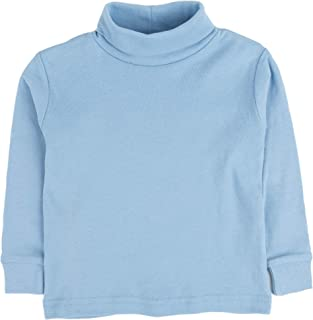 Leveret Girls Boys & Toddler Solid Turtleneck 100% Cotton Kids Shirt (2 Toddler-14 Years) Variety of Colors