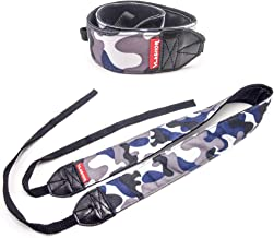 VLASHOR DSLR Camera Strap - Navy - Perfect for Digital Cameras - Designed for Comfort and Ease of Use, Great for Anti Theft and Carrying over the Shoulder or Neck - Navy Blue Camouflage pattern