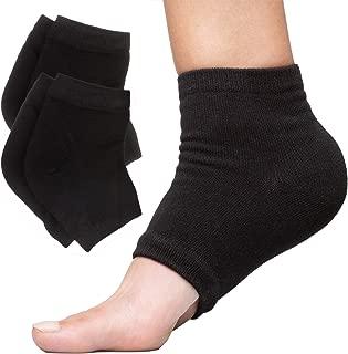ZenToes Moisturizing Heel Socks 2 Pairs Gel Lined Toeless Spa Socks to Heal and Treat..