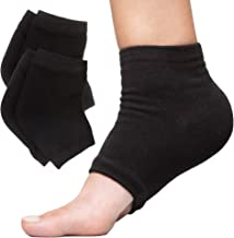 ZenToes Moisturizing Heel Socks 2 Pairs Gel Lined Toeless Spa Socks to Heal and Treat Dry, Cracked Heels While You Sleep (...