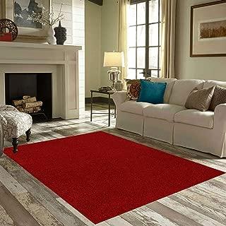 Best dark red area rug Reviews