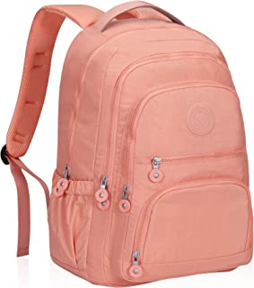 Hynes Eagle School Backpack Student Casual Daypack Laptop Backpack Fits 15.6 inches Rose Pink