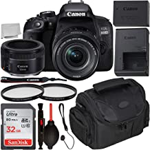 Canon EOS 800D DSLR Camera with 18-55mm is STM & 50mm f/1.8 STM Lens & Starter Accessory Bundle – Includes: SanDisk Ultra 32GB SDHC Memory Card + Camera Carrying Case + 2X Ultraviolet Filter + More