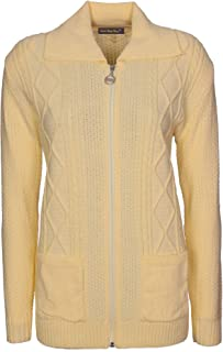 f6241d04854f1b Lets Shop Shop Womens Zipped Cable Knit Long Sleeve Zip Through Fasten  Jumper Top Ladies Classic
