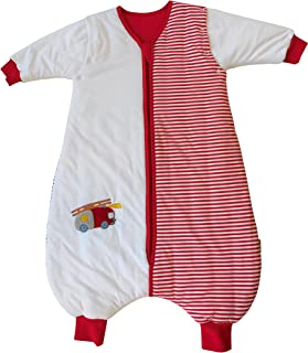 Slumbersac Standard Baby Sleeping Bag with Feet and Removable Long Sleeves 2.5 Tog - Fire Engine - 12-18 months/80cm