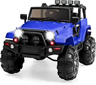 Best Choice Products Kids 12V Ride-On Truck w/ Remote Control, 3 Speeds, LED Lights, AUX, Blue
