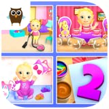 Sweet Baby Girl Dream House 2 - Daycare, Tea Party, Bath Time, Dress Up, Birthday Cake, Cleanup and Playtime