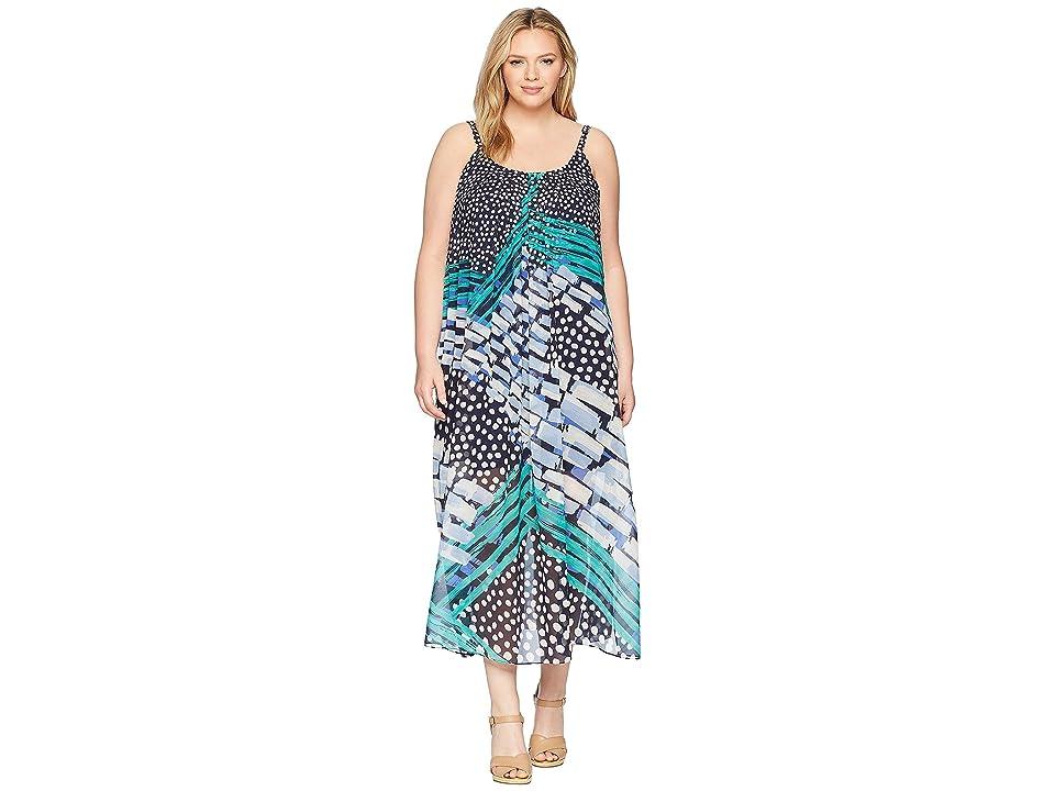 NIC+ZOE Plus Size Bloom Me Away Dress (Multi) Women