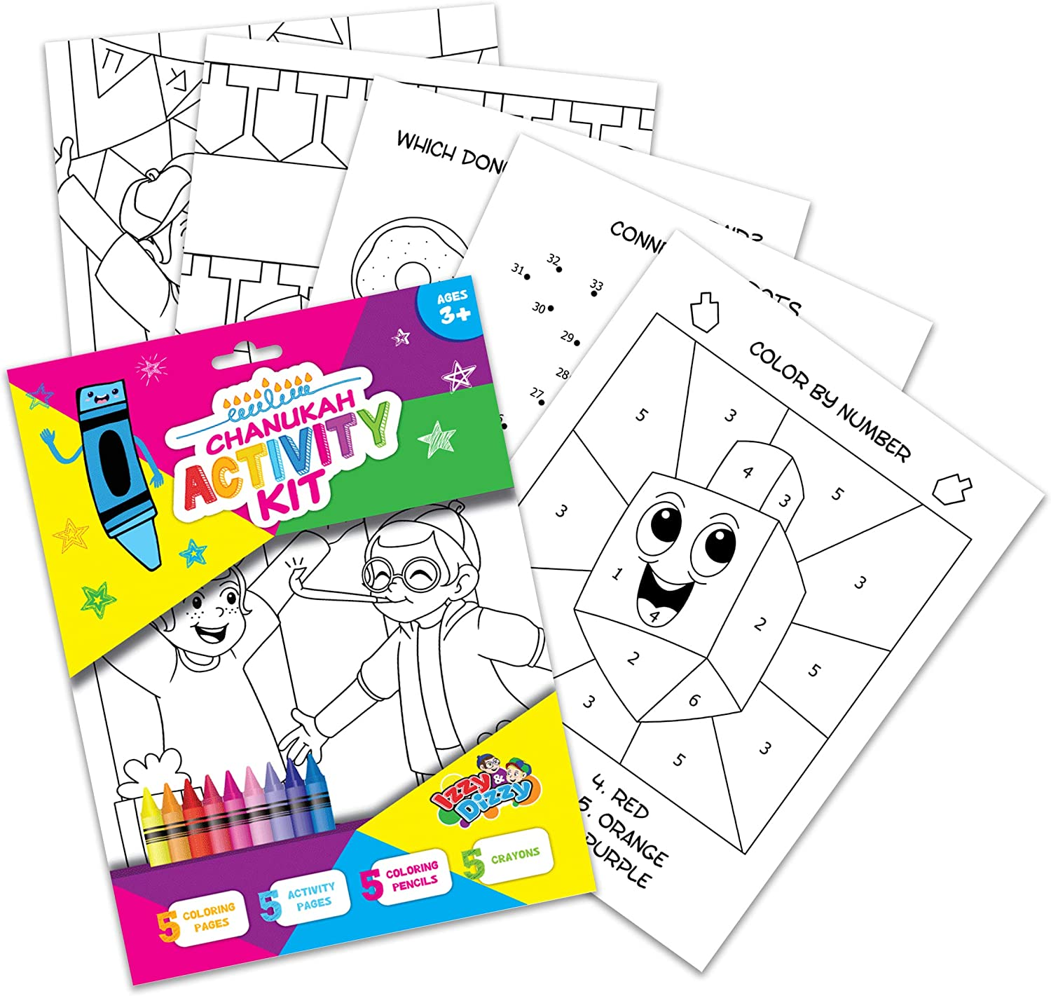 Izzy 'n' Dizzy Hanukkah Coloring and for Pa - Great Fees Louisville-Jefferson County Mall free Activity Set
