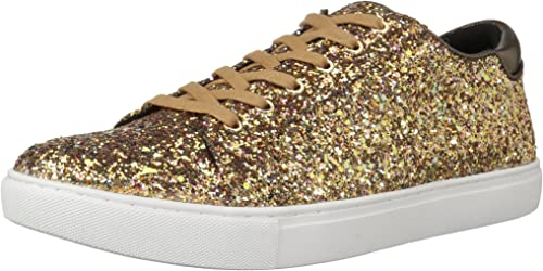 Kenneth Cole New York Wohommes Kam Techni-Cole Lace Up paniers Glitter Fashion, Bronze, 6 M US
