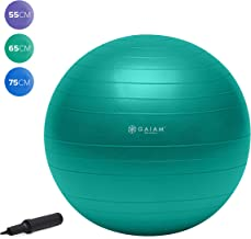 Gaiam Total Body Balance Ball Kit – Includes Anti-Burst Stability Exercise Yoga..