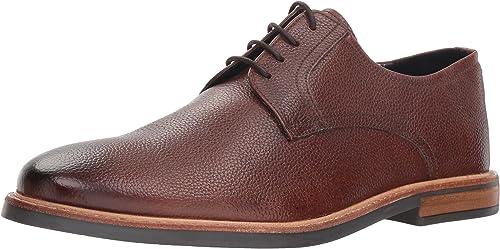 Ben Sherman Hommes's Birk Plain Toe Oxford, Dark marron, 8.5 M US