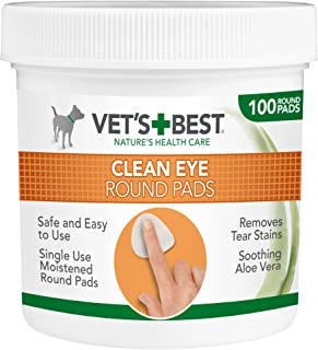 Vet's Best Clean Eye Round Pads, White