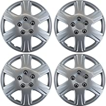 15 inch Hubcaps Best for 2005-2008 Toyota Corolla - (Set of 4) Wheel Covers 15in Hub Caps Silver Rim Cover - Car Accessories for 15 inch Wheels - Snap On Hubcap, Auto Tire Replacement Exterior Cap