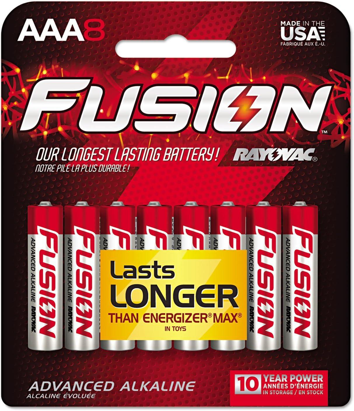 Rayovac 8248TFUSK Fusion Advanced Alkaline Batteries AAA New Free Shipping 8 Max 80% OFF Pack
