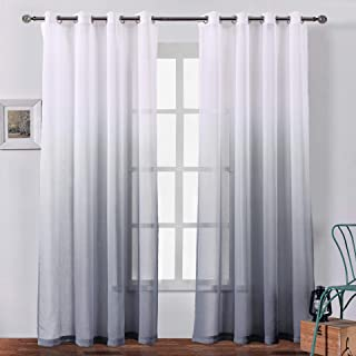 Best grey voile curtains Reviews