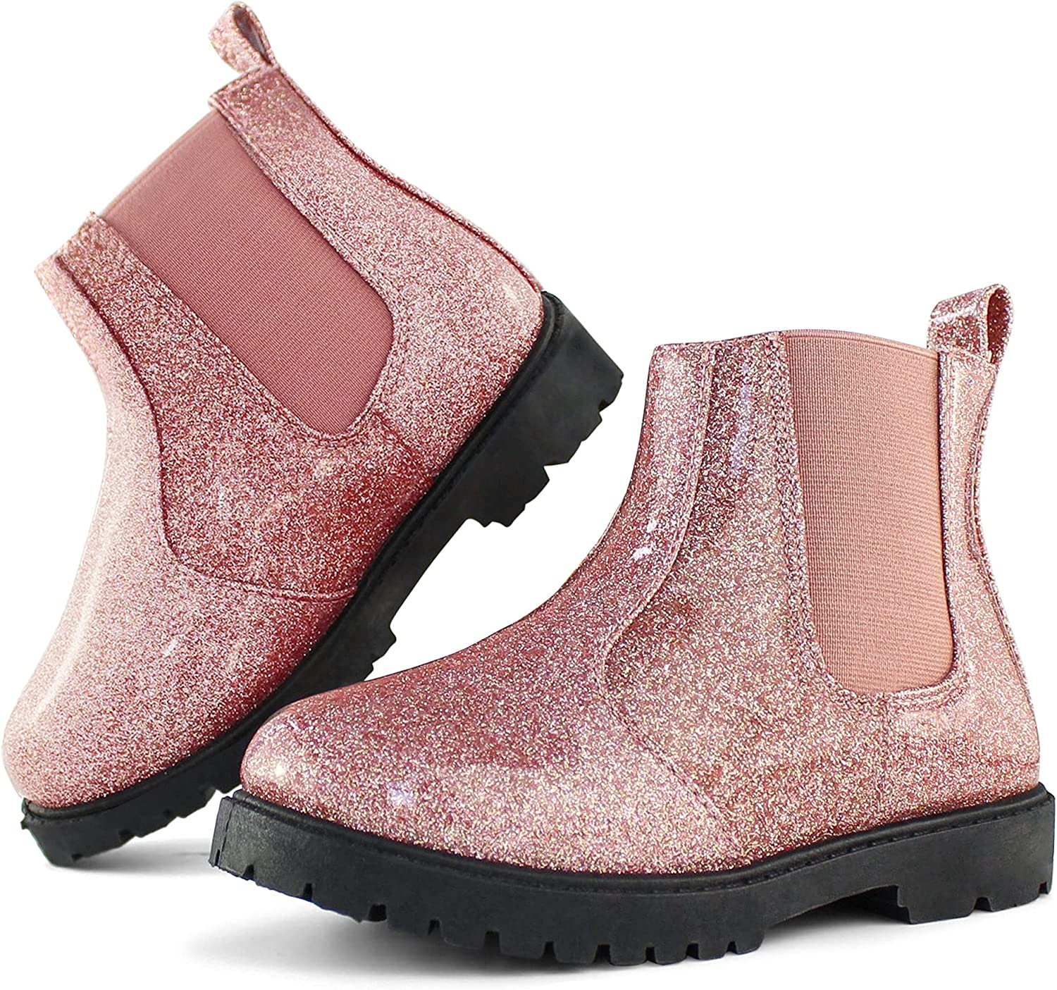 Tobfis New Orleans Mall Girl's Award Fashion Glitter Chelsea Boot Toddler L Boots Ankle